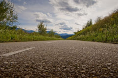 Drava road cycling. And clouds on background royalty free stock images