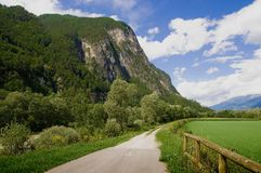 Drava road cycling Stock Photos