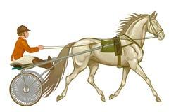 Draver in uitrusting vector illustratie