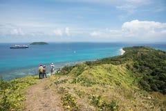 Dravuni海岛:风景海景 库存照片
