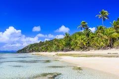 Dravuni-Insel, Fidschi lizenzfreies stockbild