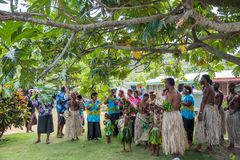 Fijian Singing in Traditional Dress