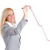 Draw arrow Stock Image
