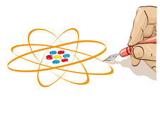 Draw the atom Stock Photo
