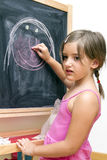 Draw on blackboard Royalty Free Stock Image