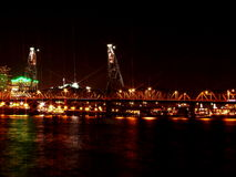 Draw Bridge. In Portland, OR at Night Royalty Free Stock Photography
