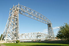 Draw Bridge. A steel framed draw bridge by the sea Royalty Free Stock Photos