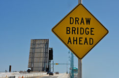 Draw bridge ahead. Royalty Free Stock Image
