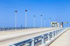 Draw bridge at harbor in Fort Stock Photography