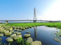 Draw bridge and river Stock Photos