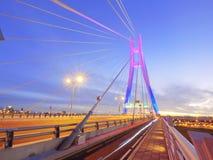 Draw bridge and sunset Royalty Free Stock Photo