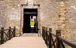 Draw bridge to fort entrance Royalty Free Stock Photography