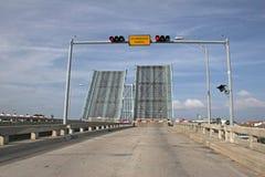Draw bridge up Royalty Free Stock Image
