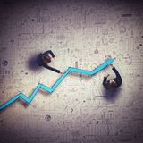 Draw business route Stock Image