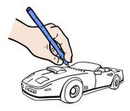 Draw car Royalty Free Stock Photo