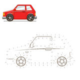 Draw car educational game vector illustration Stock Image