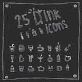 Draw drink icons set Royalty Free Stock Photos