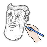 Draw face Royalty Free Stock Photo