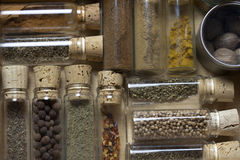 Draw filled with spices. A drawer filled with delicious and aromatic spices Stock Images