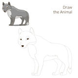 Draw the forest animal wolf cartoon Royalty Free Stock Photos