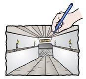 Draw hallway Stock Image