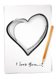 Draw i love you Stock Image