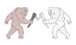 Imaginative creature draw. Draw of imaginative creature draw Stock Images