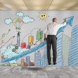 Draw innovative ideas Stock Photography