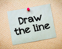 Draw the Line Stock Image