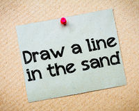 Draw a line in the sand Royalty Free Stock Photo