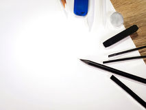 Draw lines on white paper Royalty Free Stock Image