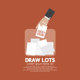 Draw Lots, Risk Taking Concept Royalty Free Stock Photo