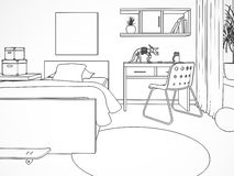 Free Draw Of The Modern Childroom Stock Photos - 24334423