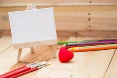 Draw painting canvas art education love Stock Photos