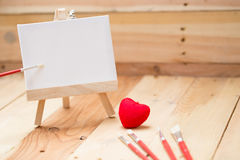 Draw painting canvas art education love Royalty Free Stock Photos