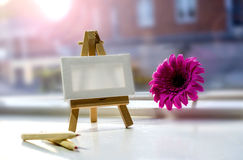 Draw painting canvas empty space. For text royalty free stock photo