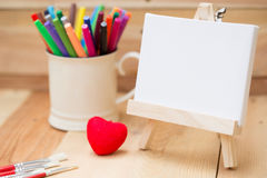 Draw painting canvas empty space for text. Royalty Free Stock Images