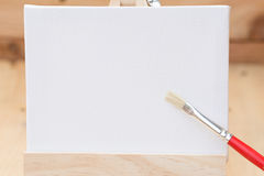Draw painting canvas empty space for text. Stock Photos