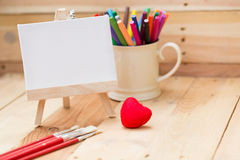 Draw painting canvas empty space for text paint school. Royalty Free Stock Image