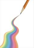 Draw rainbow Royalty Free Stock Photo