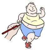 Draw run man Stock Photo