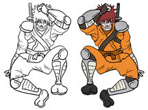 Draw samurai Royalty Free Stock Images