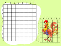 Draw on the squares. A cute cartoon illustration Stock Images