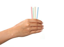 Draw Straws Stock Photo