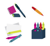 Draw supplies Royalty Free Stock Photo