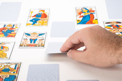 Draw tarot cards Stock Photos