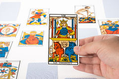 Draw tarot : The Chariot. Draw tarot on white background : The Chariot Royalty Free Stock Photo