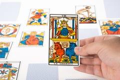 Draw tarot : The Chariot Royalty Free Stock Photo