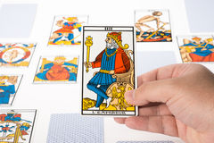 Draw tarot : The Emperor Royalty Free Stock Image