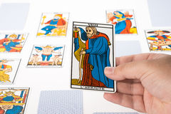 Draw tarot : The Hermit Stock Photography